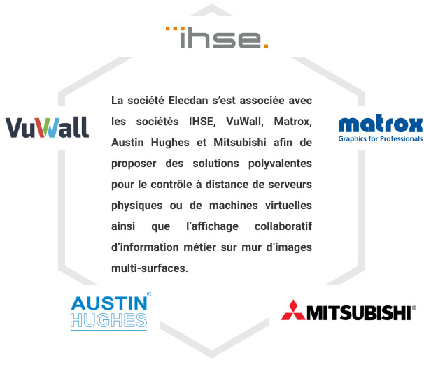 IHSE, VuWall, Matrox, Austin Hughes et Mitsubishi